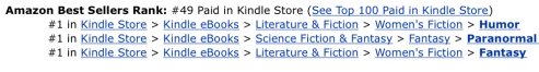 Amazon  rank 49 on 10-01-14