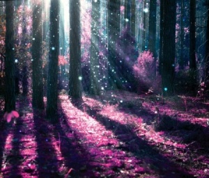Mystical forest - purple