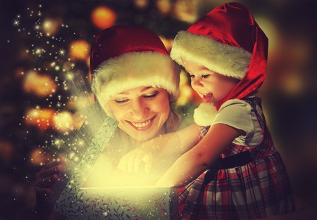 christmas mom and girl