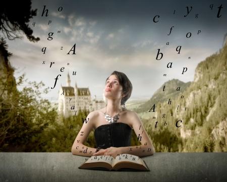 woman book fantasy